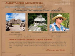 Website for Albert Coffee Archaeotours